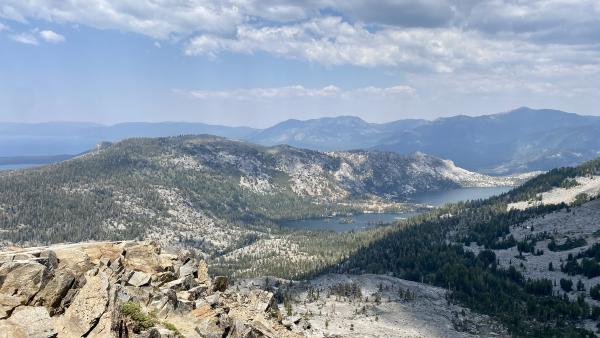 Looking at Echo Lakes from Ralston