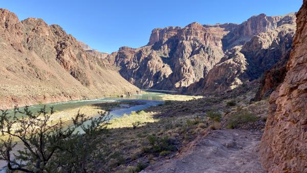 A view of the Colorado River in midday