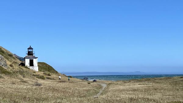 The Punta Gorda Lighthouse sits on an empty beach