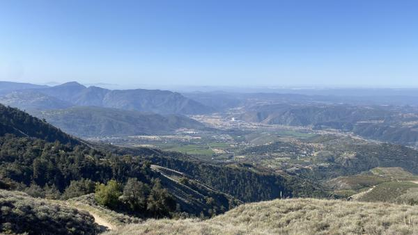 A view looking out over Pauma Valley
