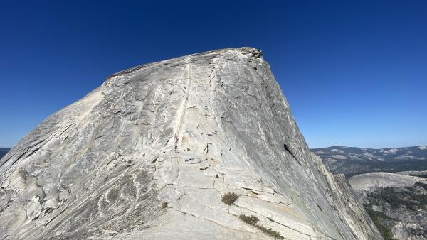 A photo of the cables leading to Half Dome