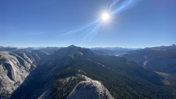 The view looking North from Half Dome